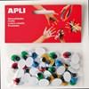 Obrázek Doplňky APLI - samolepicí očíčka / 40 ks