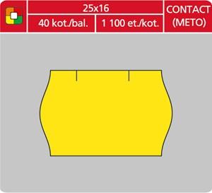 Obrázek Etikety do etiketovacích kleští - 25 x 16 mm Contact / žlutá
