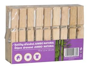 Obrázek Kolíčky dřevěné JUMBO - 18 ks