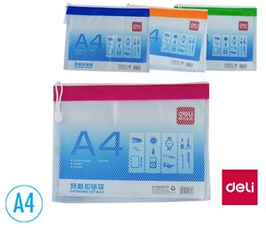 Obrázek Desky spisové DELI se zipem - A4 / barevný mix
