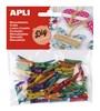 Obrázek Dřevěné kolíčky APLI / mix barev / 45 ks